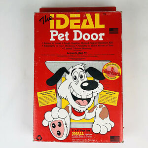 """Ideal Pet Products Small Plastic Dog Cat Door Flap size 5"""" x 8"""" New Doggy"""