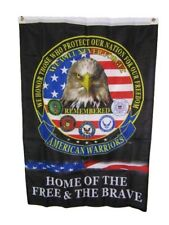 """29x40 American Warriors Remembered Home Free & The Brave Vertical Flag 29""""x40"""""""