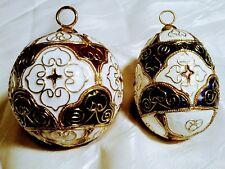 Cloisonne Christmas Ornaments. Ball and egg shape ornaments.