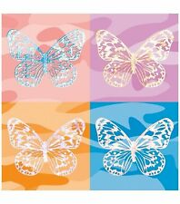 Butterfly Iron On Transfers Multicolor Camo Butterflies 2 sheets