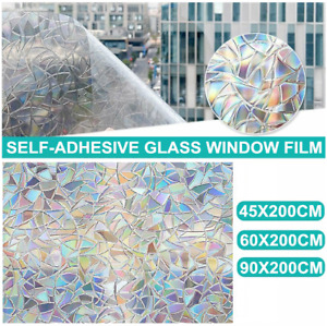 200CM Removable PVC Window Film Door Sticker Frosted Glass Privacy Home Decor