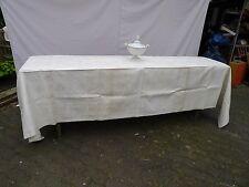 Tischdecke schwere Leinen Damast unbenutzt 340 x 160 cm aus Adelsbesitz/Großbür.