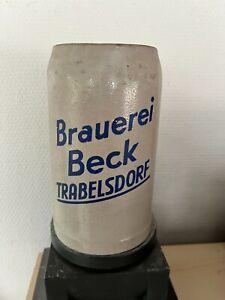 Sehr alter Bierkrug, Masskrug, Brauerei Beck, Trabelsdorf, ca. 1950