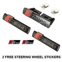 S Line Black Grill & Side & Steering Wheel Sticker 3D Emblem Car Badge All Model