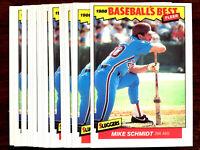1986 Fleer MIKE SCHMIDT ~  20 CARD LOT ~ PHILLIES HOF ~ HALL OF FAME INDUCTEE