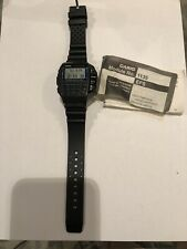 Casio Vintage Remote Control Calculator Watch 1135 With User Manual