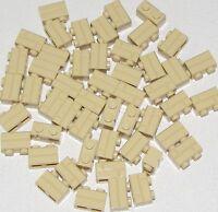 LEGO LOT OF 50 NEW TAN 1 X 2 MASONRY BRICKS BUILDING BLOCKS CITY TOWN PARTS