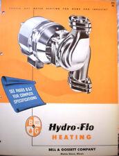 BELL & GOSSETT Catalog Hydro-Flo Pumps Boilers ASBESTOS Air Cell Covering 1952