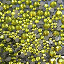 Assortment strass GREEN OLIVE glass hotfix s06 + s10 + s16 + s20 n°(135)