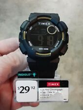 Timex TW5M23600 Unisex Digital Black Resin Watch Indiglo DayDate Timer Alarm NEW