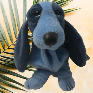 Applause Hush Puppies Blue Bayou Beanbag Bassett Hound DOG Plush Stuffed Animal