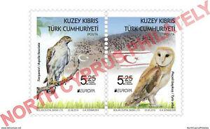 "2019 TURKISH CYPRUS ZYPERN "" EUROPA - Birds - Owl - Eagle "" Se-tenant Pair - MNH"