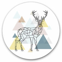2 x Vinyl Stickers 7.5cm - Abstract Deer Stag Geometric Cool Gift #8147