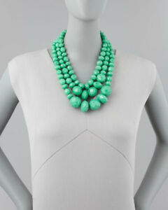 Kate Spade Give It A Swirl Necklace NWT! Triple Green Modern Urban Chic Update!