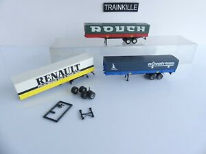 ROCO / RMM 1/87 eme 3 REMORQUES ROUTIERES ROUCH / NOVATRANS / RENAULT