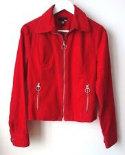 BLOUSON ROUGE VESTE H&M coton mille raie Taille 36 état quasi NEUF vrai rouge