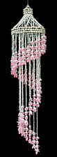 Shell Wind Chime Pink Bubble Seashell Spiral 24 inch