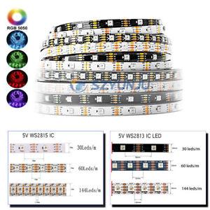 WS2813 WS2815 5V/12V LED strip Dual-Signal 5050 RGB Individual Addressable 5M