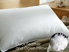 Duck Feather Pillows Pillow Extra Filled Luxury Hotel Quality PACK of 1, 2 & 4