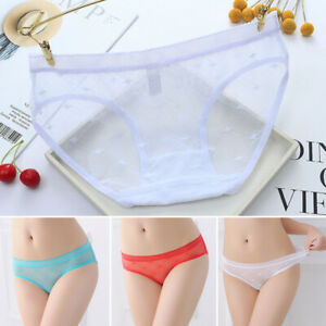 Women Sexy See Through Briefs Transparent Lace Seamless Knickers Panties