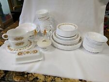 Vintage Retired Corelle/Pyrex BUTTERFLY GOLD 86pc Dinnerware Dishes Set SERVING