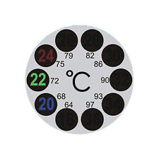 ROUND STICK ON ADHESIVE FLAT THERMOMETER FOR FISH AQUARIUM WINDOW HOME