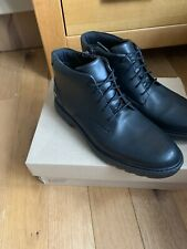 Clarks -Asher Walk Older Boys Black leather School Boots UK size 7.5 F EU 41.5 M