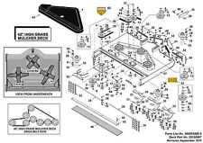 """Countax Westwood A2050HE A2550HE D1850 K1850 D50LN 42"""" HGM ( Lower )BLADE KIT 3"""