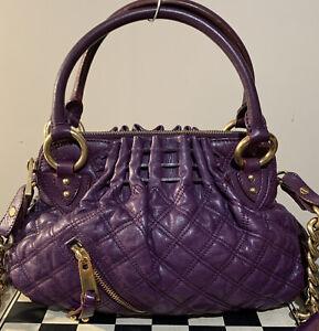 Marc Jacobs Cecilia Quilted Purple Leather Satchel Bag w/ dust bag Gorgeous!