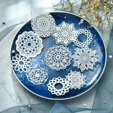 10 Paper White Doily Wedding Scrapbooking Cutting Dies Cuts Embossing DIY Craft