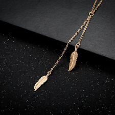 Elegant 18k Yellow Gold Plated Leaves Pendant Woman Gift Necklace N-A560