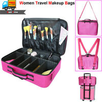 Lady Professional Makeup Bag Cosmetic Case Storage Handle Organizer Travel Kit