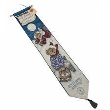Boyds Bears Enjoy The Ride Christmas Sledding Tapestry Wall Hanging Bellpull