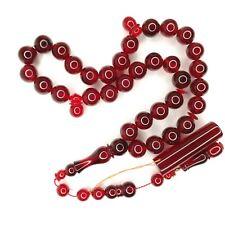 Turkish Amberoid Worry Beads SIKMA Kehribar Tesbih Prayer Tasbih Misbaha Eid 488