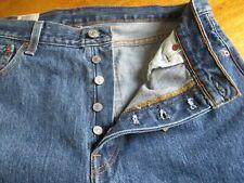 MENS Levi's 501 original 35 x 32  Button Fly Dark Wash jeans straight leg