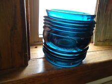 Vintage Marine Navigation Marker Lens 360 Degree Blue/Green Glass Fresnel Lens