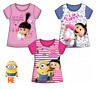 Girls Kids Official Licensed Minions Despicable Me Short Sleeve T Tee Shirt Top
