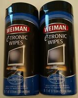 Weiman E-Tronic Cleaning/Detergent Wipes, lot of 2 30 Wipes/Canister free shippi