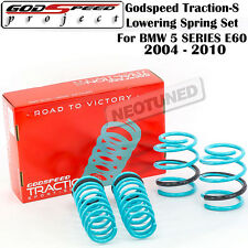 GODSPEED TRACTION-S LOWERING SPRING FOR BMW 5 SERIES 04-10 W/O SELF-LEVELING E60
