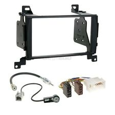 Hyundai Santa Fe CM 06-09 2-DIN Autoradio Einbauset Adapter Kabel Radioblende