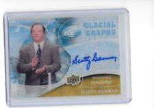 2009-10 Upper Deck Ice Scotty Bowman Glacial Graphs Auto Autograph