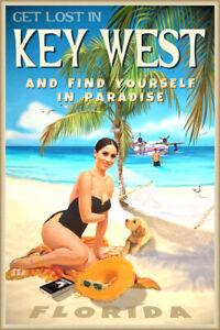 Key West Florida Tropical Travel Poster Meghan Harry Pin Up Megxit Art Print 353