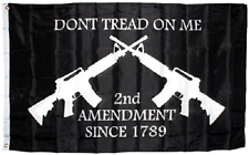 3x5 Dont Tread on Me Second Amendment NRA M4 Rifle Flag Protest Banner Gun