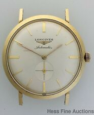 Vintage Longines 14k Gold Automatic Mens 1950s Wrist Watch