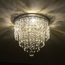 Elegant Chandelier Crystal Lamp Light Ceiling Flush Mount Modern Fixture Hile