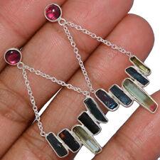 Sterling Silver Earring Jewelry Ae138428 188J New listing Tourmaline Point & Garnet 925