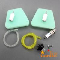 Air Fuel Filter Fuel Line Primer Bulb Spark Plug For Poulan Craftsman Chainsaw