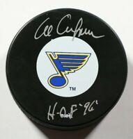 St. Louis Blues Al Arbour Signed Autographed Puck Auto NHL Beckett COA HOF