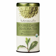 The Republic Of Tea Double Green Matcha, 50 Tea Bags, Gourmet Blend Of Organic G