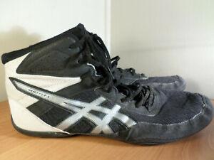 Asics Mens Size 11 MATFLEX 6 Black/Silver Wrestling MMA Shoes1081A021- Fast Ship